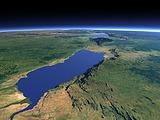 Lake Albert and the Albertine Rift from north